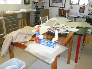 Big mess in Barbara's studio