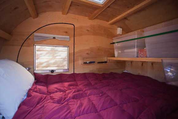 Teardrop Trailer Interior View