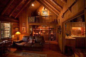 The livingroom and kitchen in Maynard Dixon's home in Mt. Carmel, Utah
