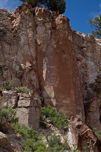 Rock art in Fremont Indian State Park, Utah