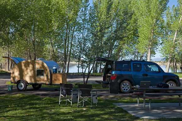 Camping at Palisade State Park, Sterling, Utah
