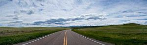 US Route 89 in the Great Plains of Montana