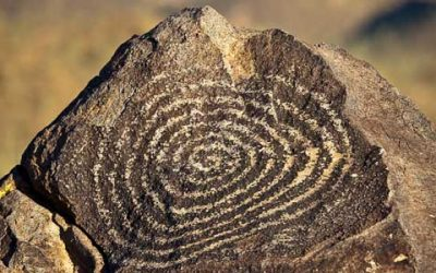 Panoramic Photograph of the Week-Spiral Petroglyph
