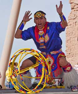 Tony Duncan-Native American Flute Player and Hoop Dancer