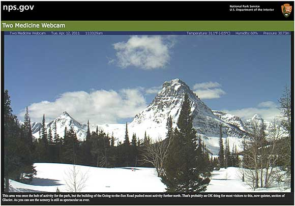 Two Medicine Webcam, Glacier National Park, Montana