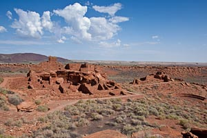 Ruins of prehistoric Indian dwellings in Wupatki National Monument