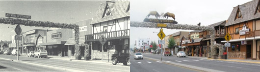 Downtown Afton, Wyoming. 1983 & 2009