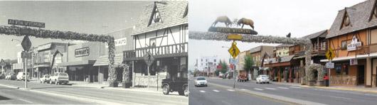 Downtown Afton, Wyoming. 1983 & 2009
