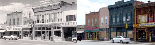 Downtown Panguitch, Utah. 1983 & 2009.