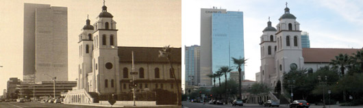 St. Mary's Basilica, Phoenix, Arizona 1982 & 2010