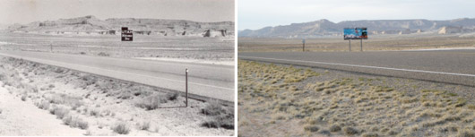 Utah Border Sign, 1983 & 2009