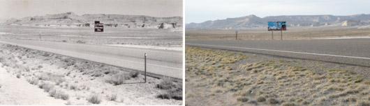 Utah Border Sign, 1983 & 2009