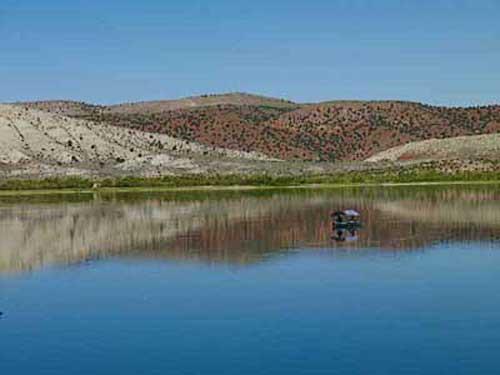 Fishing on Ninemile Reservoir, Utah