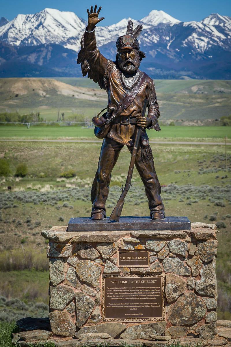 Thunder Jack Statue, Montana