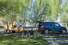 Camping at Palisade State Park, Utah