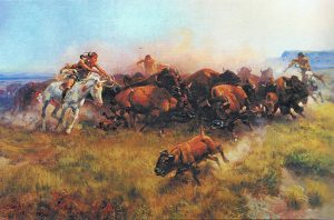 The Buffalo Hunt by C. M. Russell