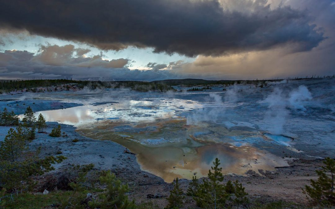 Norris Geyser Basin Sunset-Yellowstone National Park