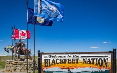 US Route 89 Roadside Attraction: Greeters at the Gates to Blackfeet Country