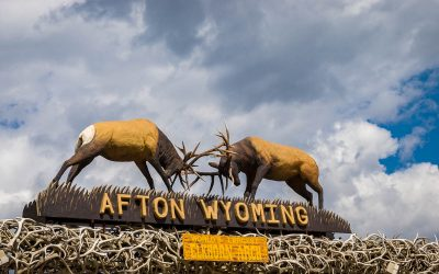 US Route 89 Roadside Attraction: Afton's Elkhorn Arch