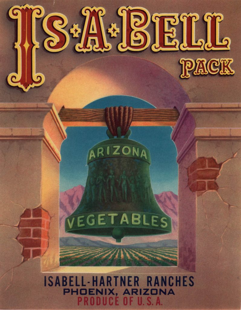 Arizona Vegetable Crate Label