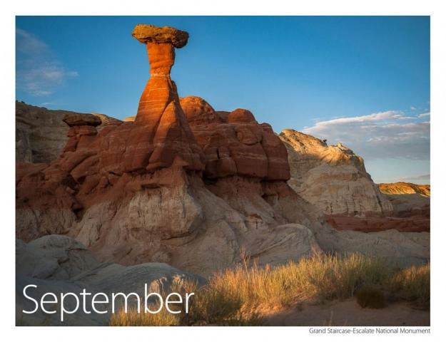 2017 US Route 89 Calendar-September