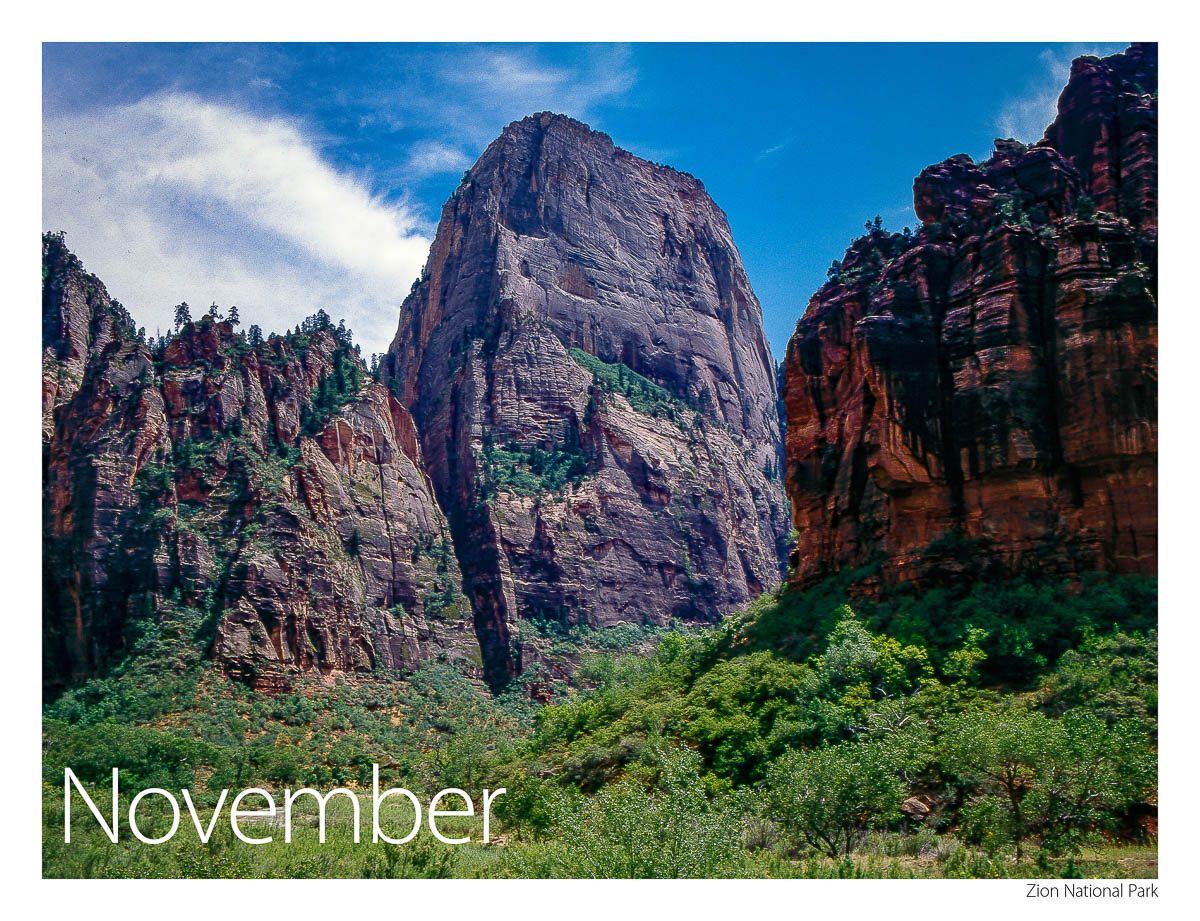 2017 US Route 89 Calendar-November