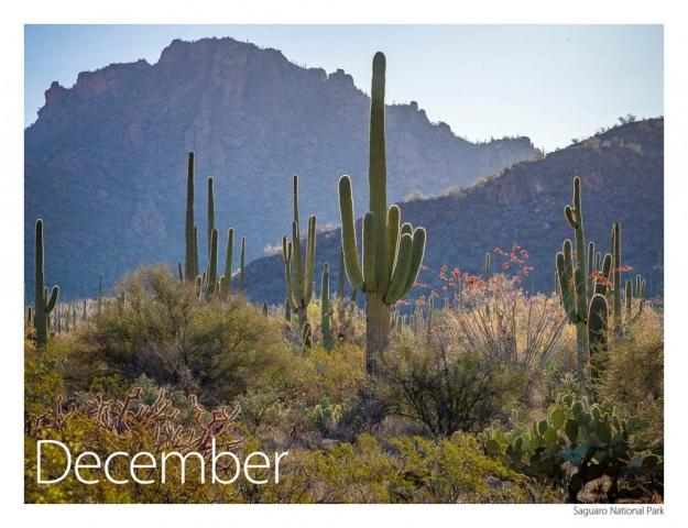 2017 US Route 89 Calendar-December