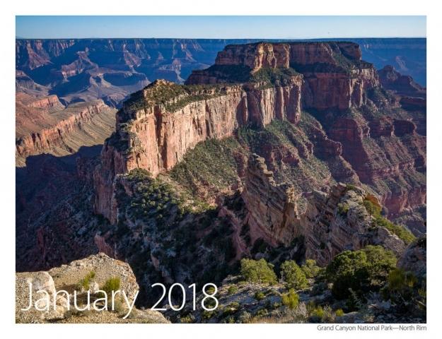 2017 US Route 89 Calendar-January 2018
