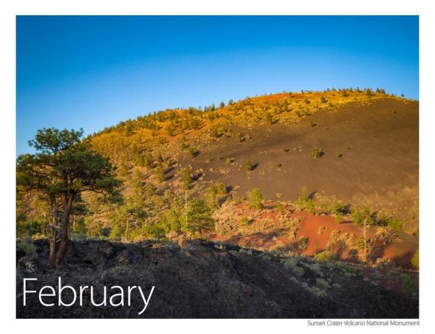 2017 US Route 89 Calendar-February