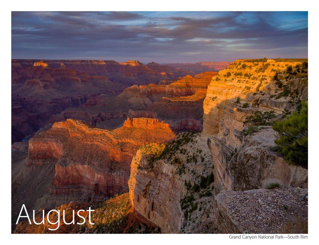 2017 US Route 89 Calendar-August