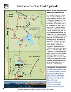 US Route 89 Road Trip Map Book-E-book Page