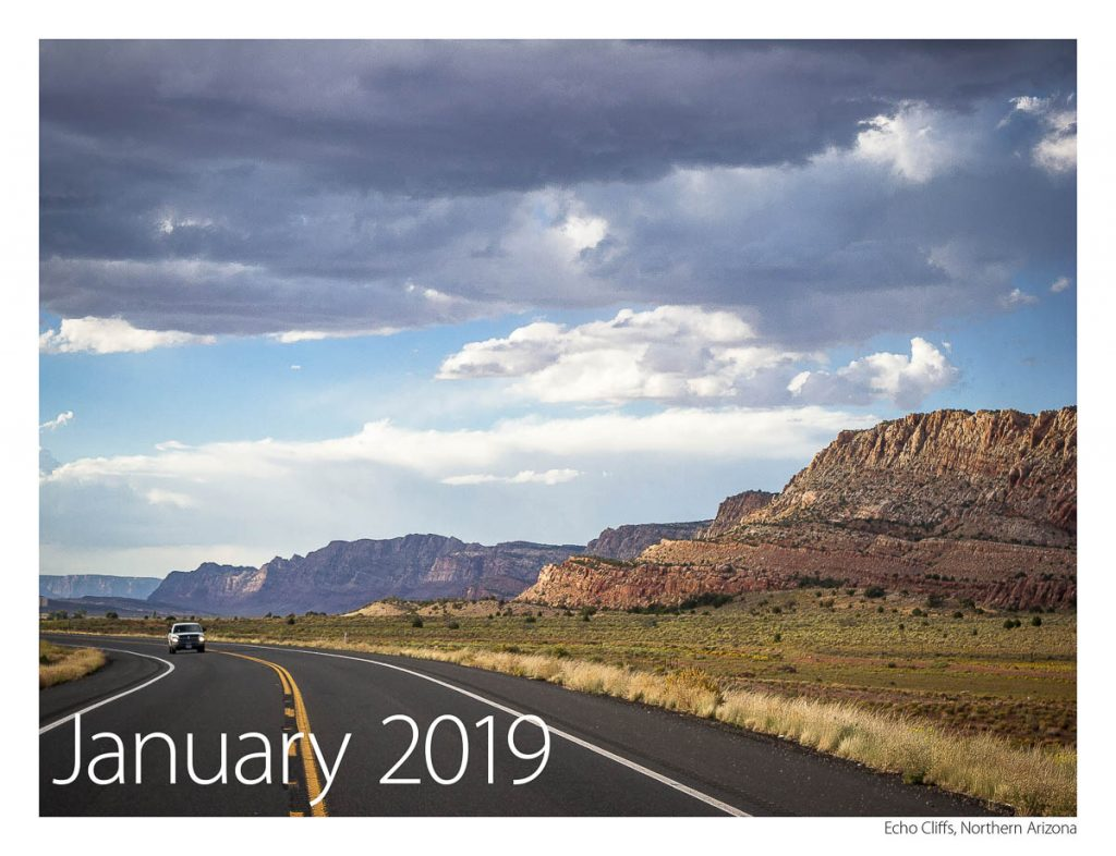 US 89 2018 Calendar January 2019