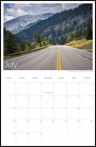 US 89 2018 Calendar July