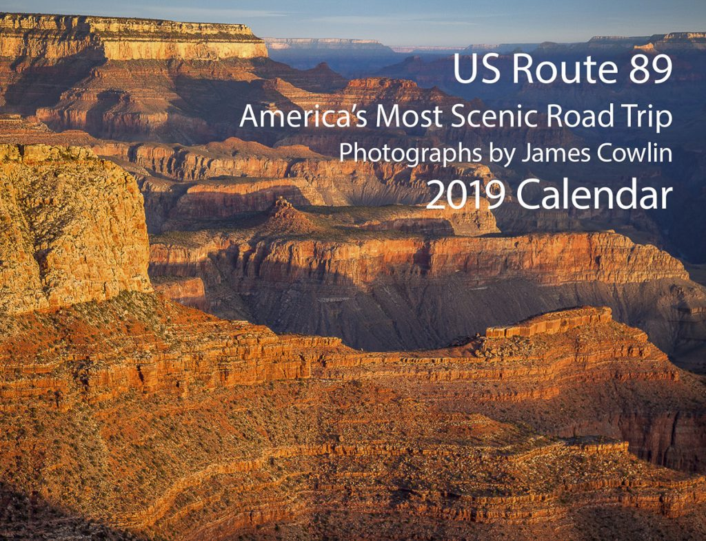 US Route 89 2019 Calendar Cover