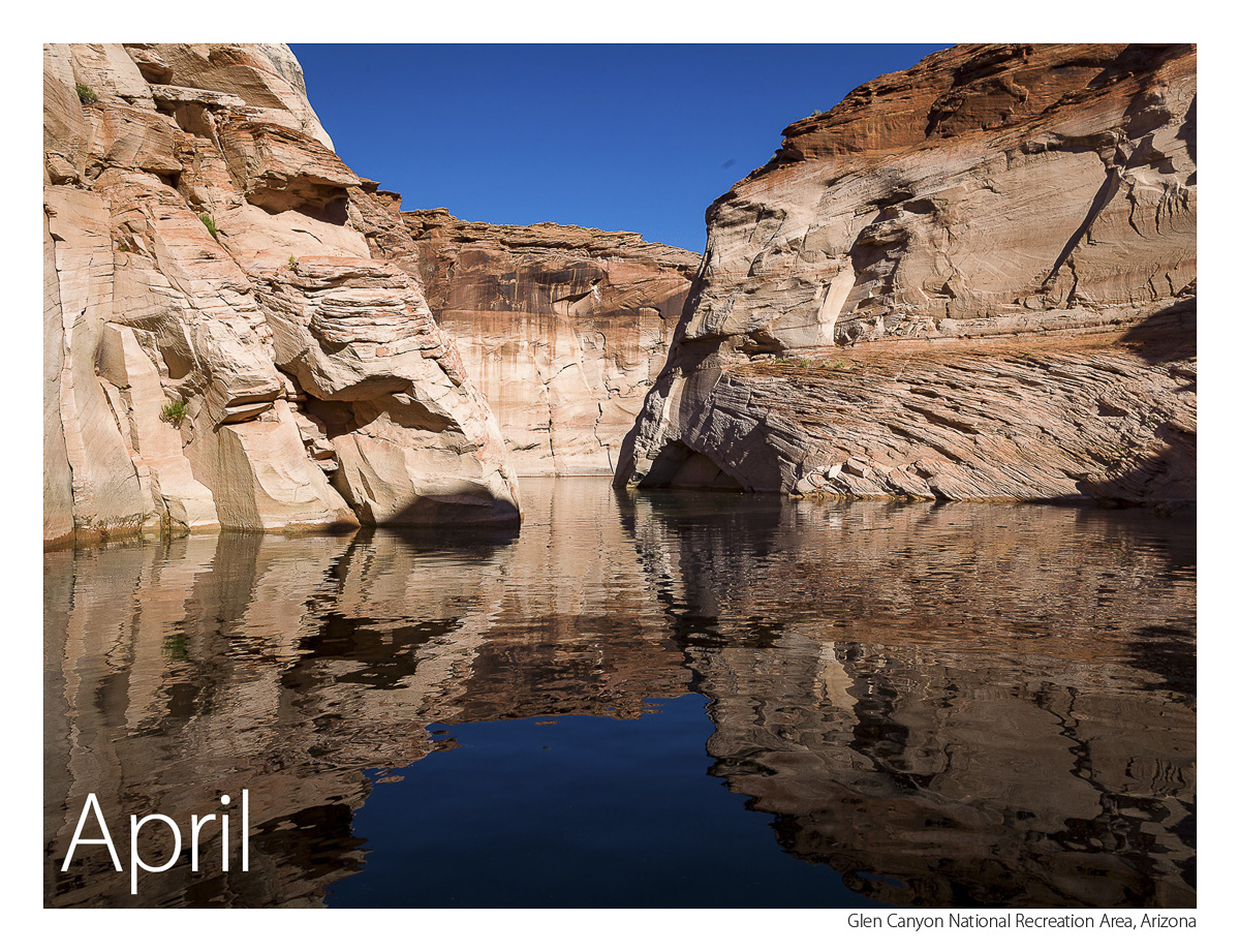US Route 89 2019 Calendar April-Glen Canyon National Recreation Area
