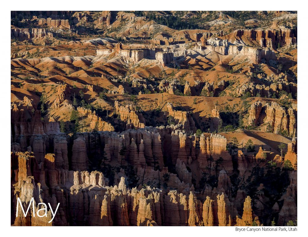 US Route 89 2019 Calendar May-Bryce Canyon National Park