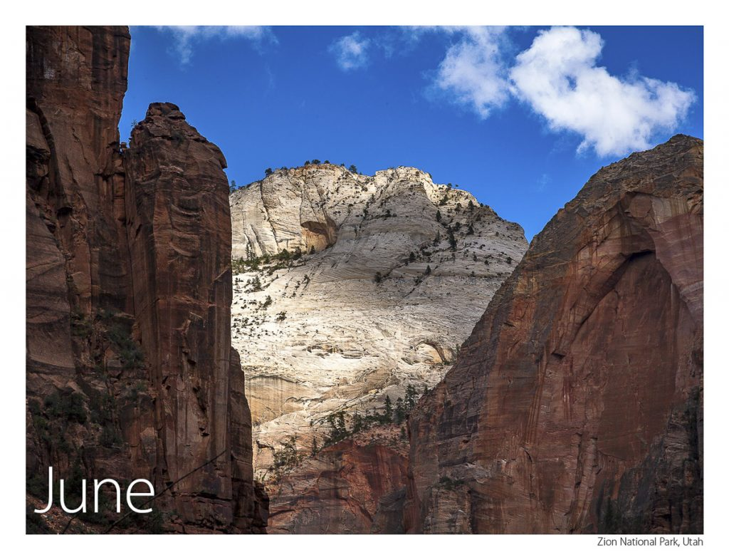 US Route 89 2019 Calendar June-Zion National Park