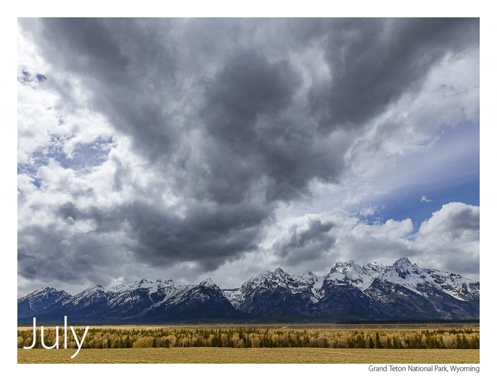 US Route 89 2019 Calendar July-Grand Teton National Park