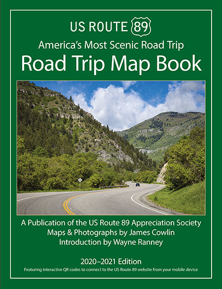 US Route 89 Road Trip Map Book