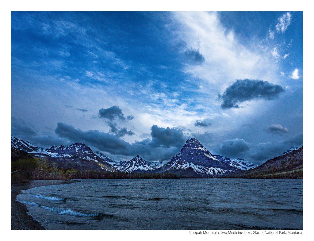US Route 89 2021 Calendar-August-Sinopah Mountain, Two Medicine Lake, Glacier National Park, Montana