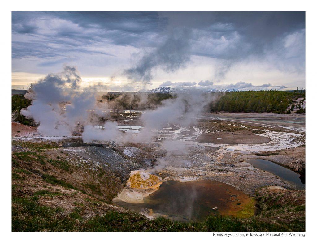 US Route 89 2021 Calendar February-Norris Geyser Basin, Yellowstone National Park, Wyoming