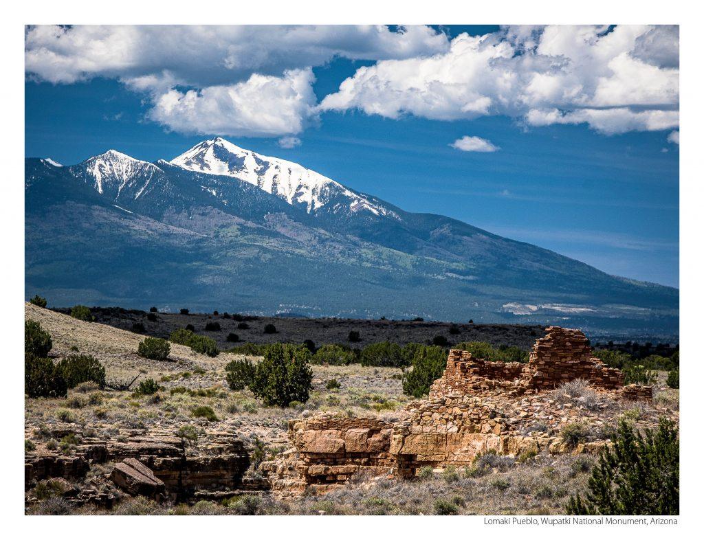 US Route 89 2021 Calendar-July-Lomaki Pueblo, Wupatki National Monument, Arizona