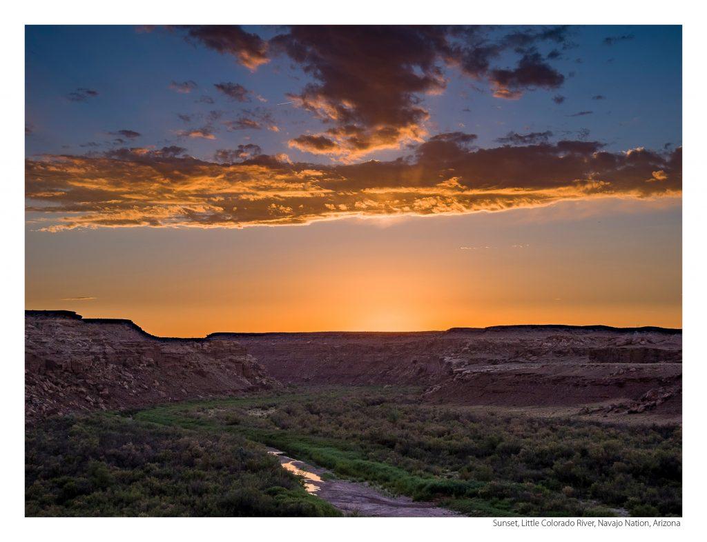 US Route 89 2021 Calendar-November-Sunset, Little Colorado River, Navajo Nation, Arizona