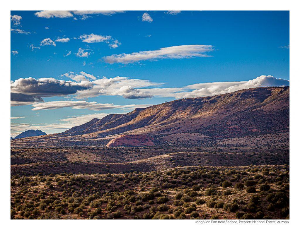 US Route 89 2021 Calendar-October-Mogollon Rim near Sedona, Prescott National Forest, Arizona
