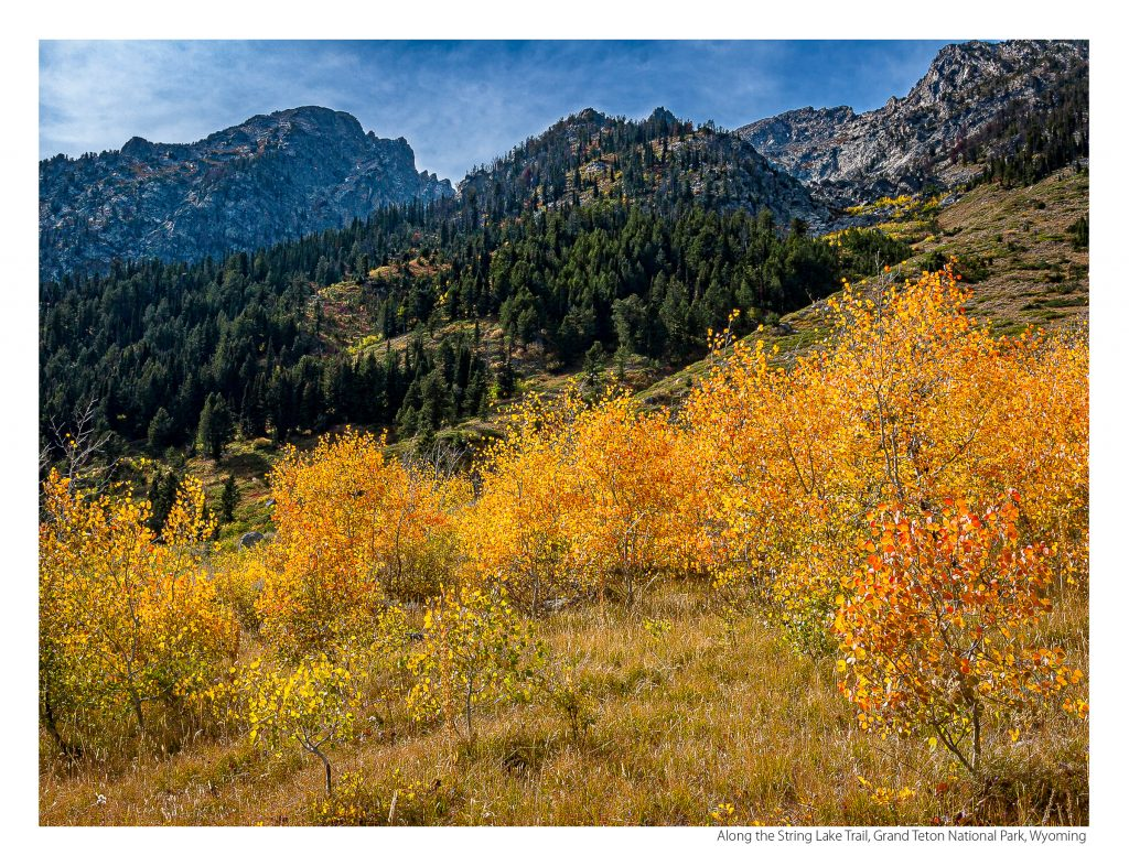 US Route 89 2021 Calendar-September-Along the String Lake Trail, Grand Teton National Park, Wyoming