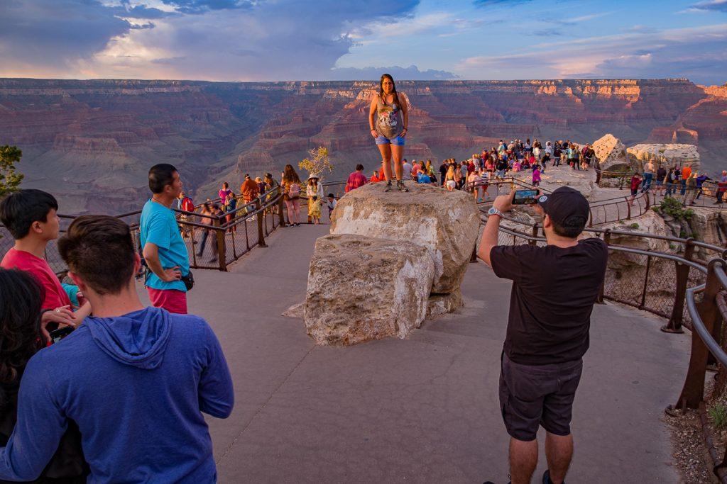 Grand Canyon National Park Tourists