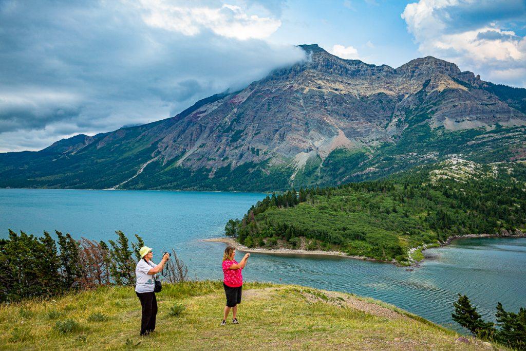 Waterton Lakes National Park Tourists