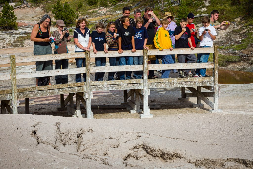 Yellowstone National Park Tourists